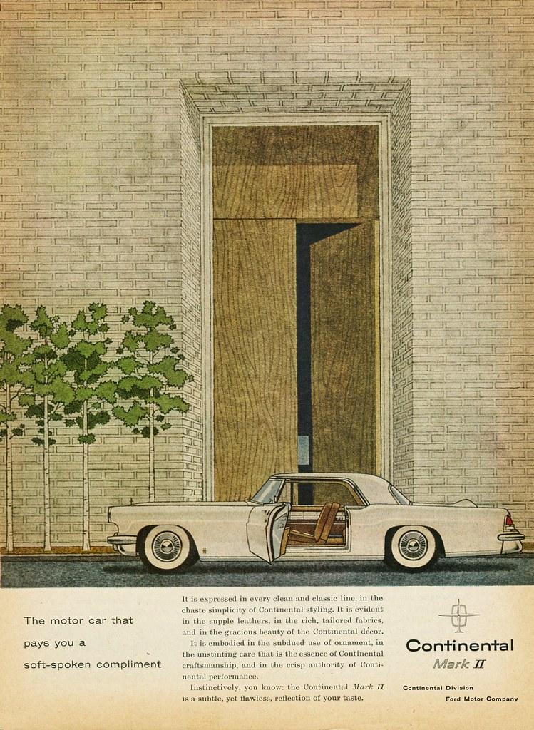 1956 Continental Mark Ii Ad Alden Jewell Flickr