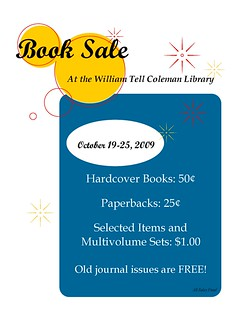 Book Sale flyer 2009 blue | by Doreen1989