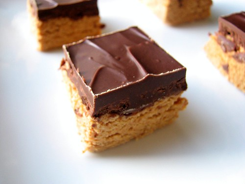 No Bake Peanut Butter Squares | by Tracey's Culinary Adventures