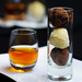 Dark Chocolate and Coconut Truffles Trio with French Dessert Wine