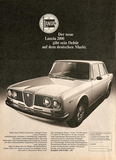 Cherche Alfa 2000 berlina pour confrotation Lancia 2000 3710023286_a1f7148ff5_z