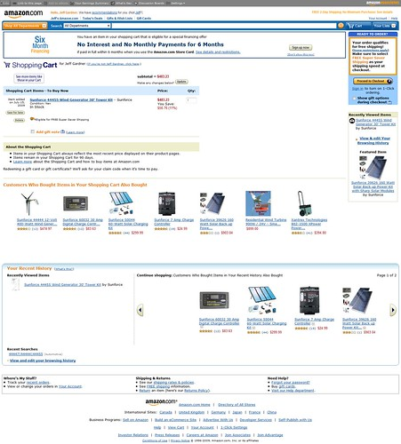 how to make a checkout cart for amazon