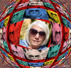 Flickr friend Sue, Warhol Style, with a Touch of Bingee | by Bingee