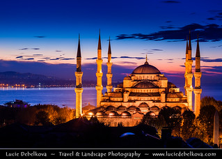 Turkey - Brand New Day over The Blue Mosque (Sultan Ahmet Camii) in Istanbul | by © Lucie Debelkova / www.luciedebelkova.com
