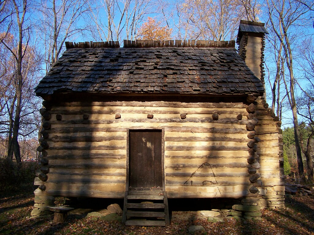 Superb img of Log Cabin Located at the Bushy Run Battlefield. More infor  with #1E6CAD color and 1024x768 pixels