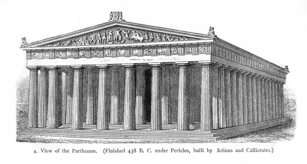 Parthenon Front Drawing