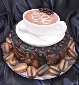 Coffe Cup Birthday Cake