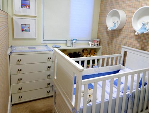 Quarto do Bebê do Apartamento Modelo Decorado Plano