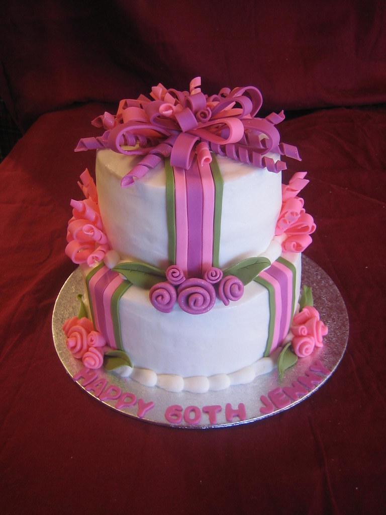 60th Birthday Cake 60th Birthday Cake With Fondant