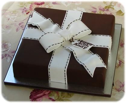 Birthday Cake Square Design : 40th Birthday Cake 30 cm square chocolate mud cake ...