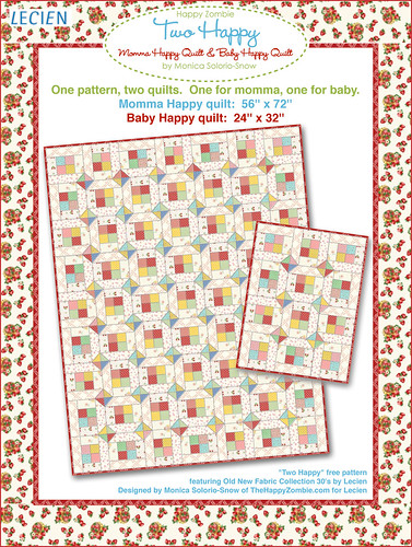 Two Happy - free quilt pattern | by Happy Zombie