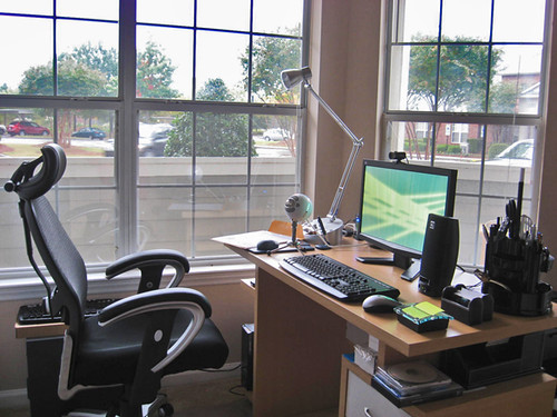 Home Office Space In Living Room