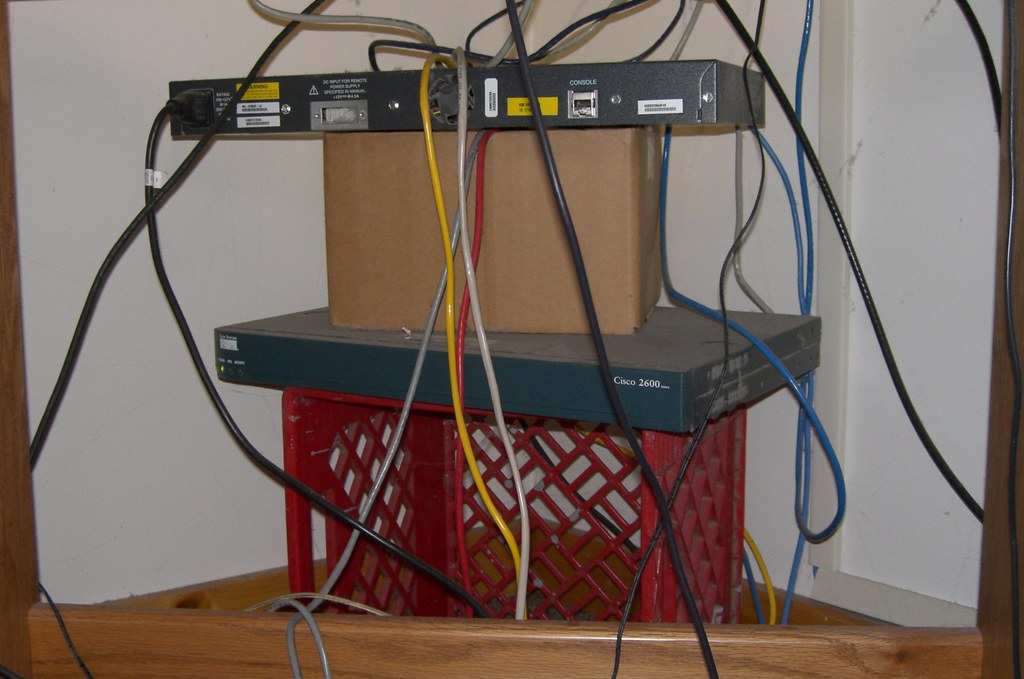 network wiring closet on a crate wiring closet on a crate flickr