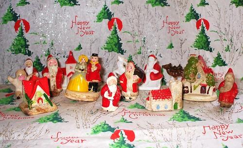 Plaster Christmas Cake Decorations