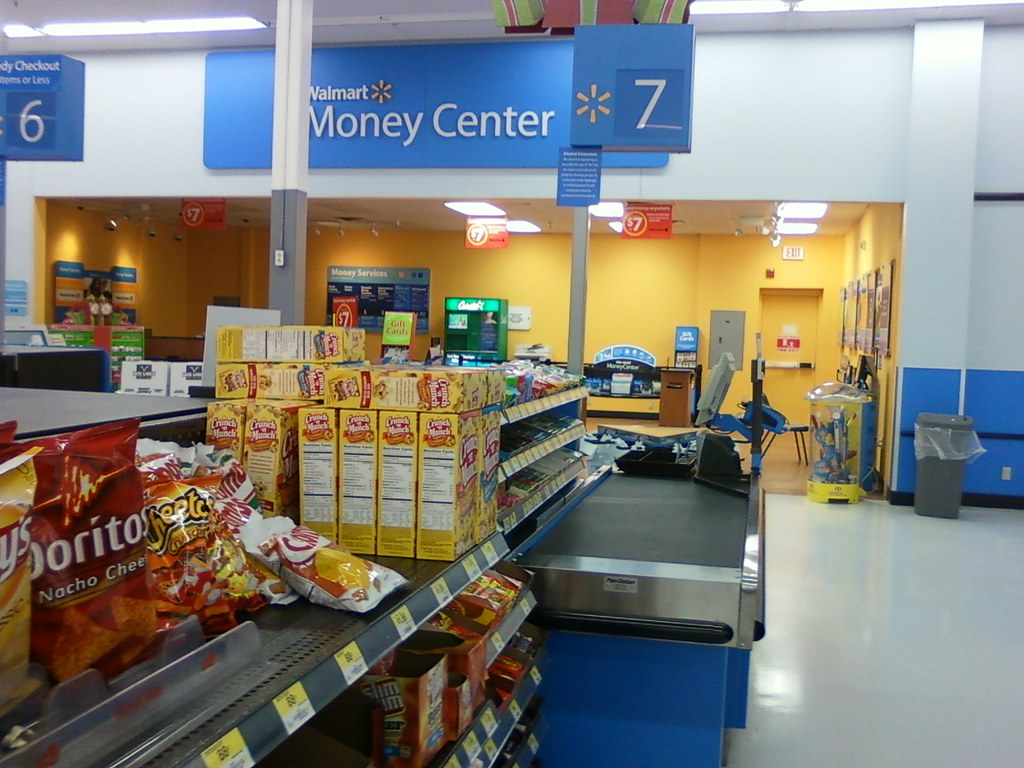 wal mart council bluffs iowa registers six seven and the money