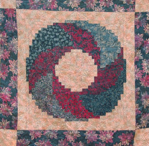 Christmas Wreath Log Cabin Wall Quilt I Had Collected
