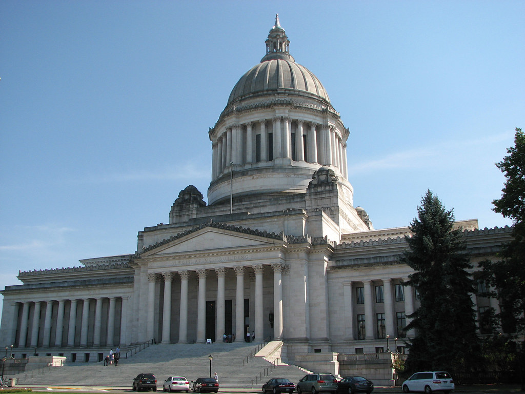 Washington State Capitol Legislative Building Front Angl