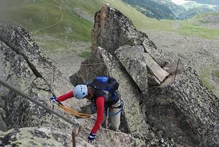 Klettersteig Eggishorn : Klettersteig eggishorn finding her feet on the final ridgeu flickr