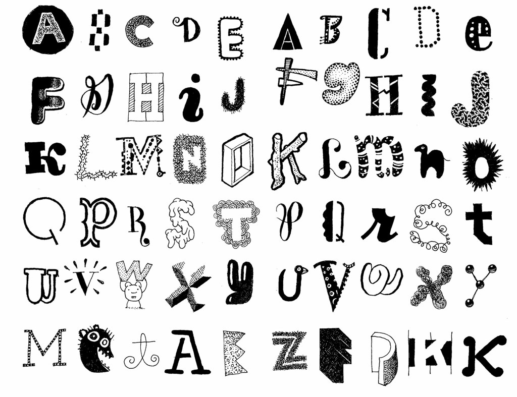 Letters 14 favorite more doodle letters in moleskine don flickr letters 14 by don moyer thecheapjerseys Choice Image