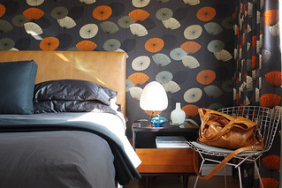 Dandelion clocks mid-century bedroom design | by The 10 cent designer