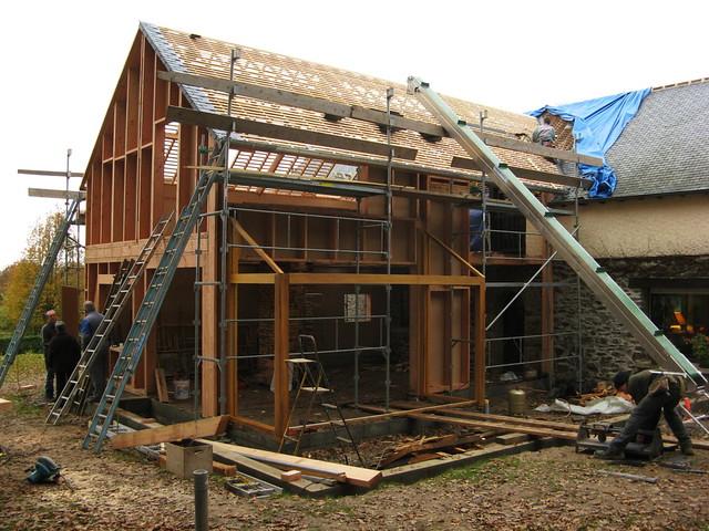 Extension en bois d 39 une long re pierre et terre 060 flickr for Cout d une extension en bois