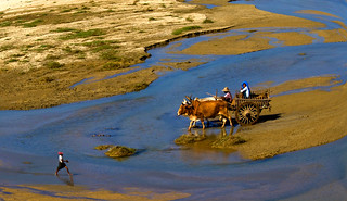 5009 Crossing a river near Mandalay--Myanmar | by ngchongkin