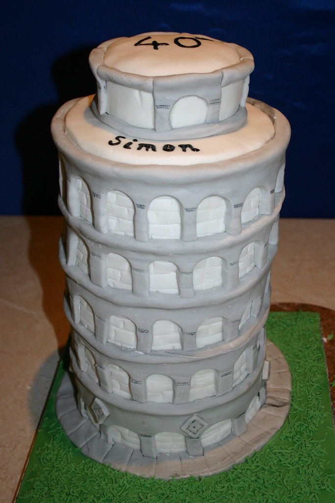 Leaning Tower Of Pisa Cake 40th Birthday Cake For A