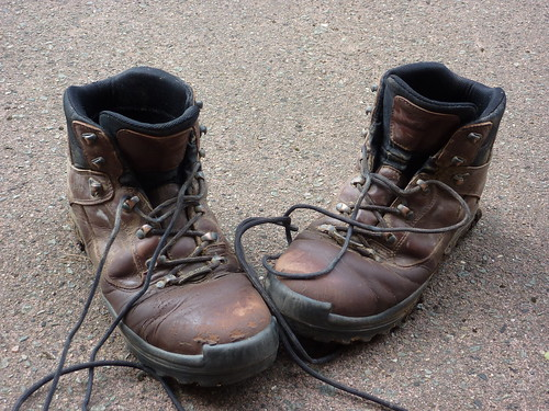 My Old Boots Symbolically I Also Took My Boots Off As I