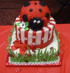 Ladybug Baby Shower Sheet Cake