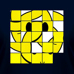 Acid Smiley Shuffle Puzzle | by Worm Sign T-Shirts