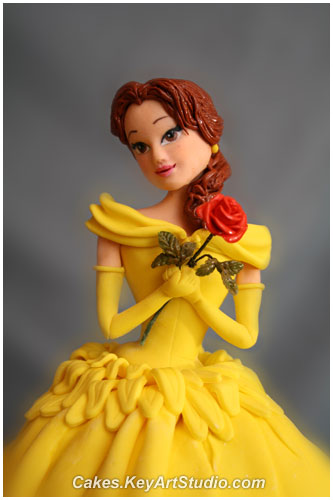 Princess belle cake beauty and the beast by cakes keyartstudio com