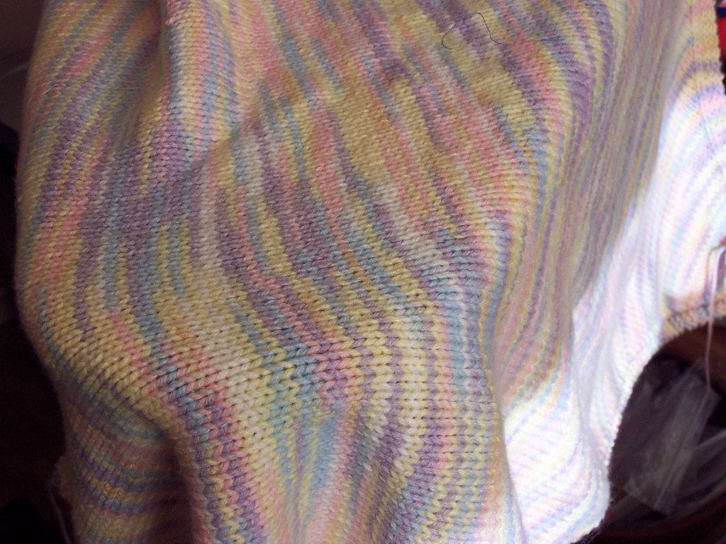 Knitting Bias Stockinette : Bias baby blanket knit free pattern