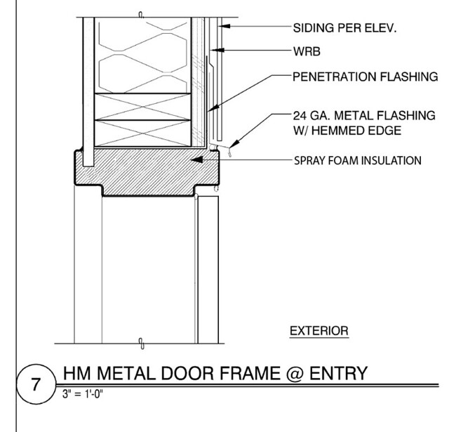 Hollow Metal Door As Built Head Detail Www Sikesdesign
