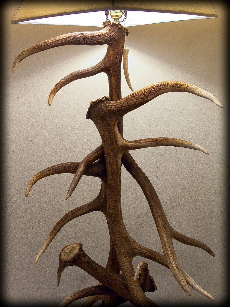 5 elk antler floor lamp - 3 | I build these lamps part-time.… | Flickr