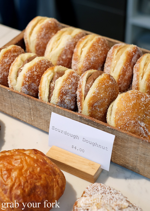 Sourdough doughnuts at Pigeon Whole Bakers in Hobart Tasmania