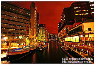 London Paddington Basin at Night ~ It was a Red Night over the Canal...~ | by davidgutierrez.co.uk