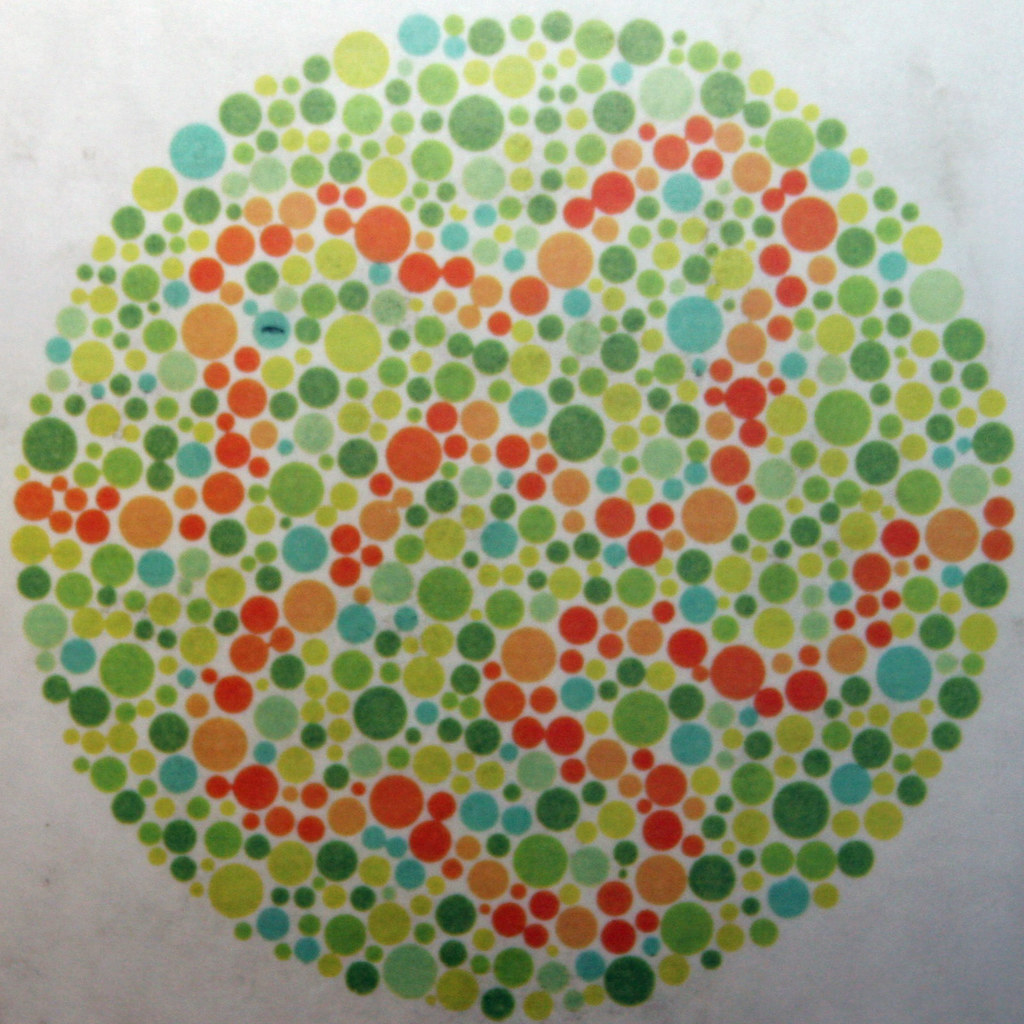 colour blindness test chart | Discovery Museum Newcastle on … | Flickr