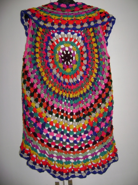 Hippie Crochet Vest Back I Know I Know It Is Too Much C Flickr