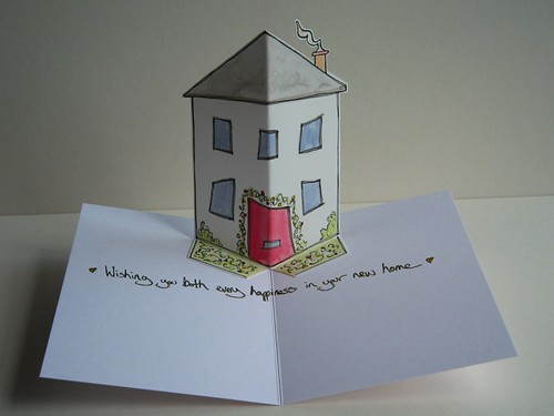 new home pop up card pop up card of a sweet little house flickr. Black Bedroom Furniture Sets. Home Design Ideas