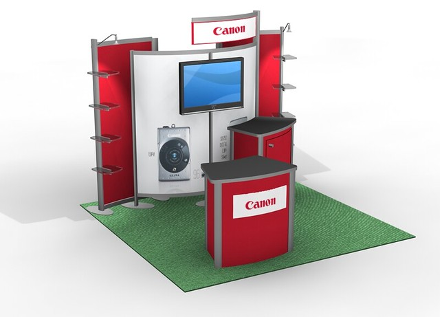 10 Ft Trade Show Booth Exhibit With Flat Screen Monitor Tv