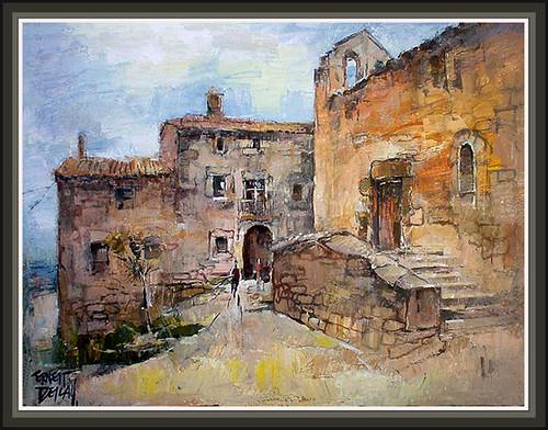 Pin s pintura solsones pinturas cuadros paisatges romanico flickr - Pintores en lleida ...