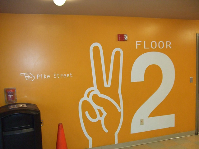 Seattle parking garage graphics floor 2 design for Floor 5 swordburst 2