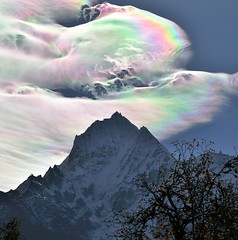 An Iridescent (Rainbow) Cloud in Himalaya | by Oleg Bartunov