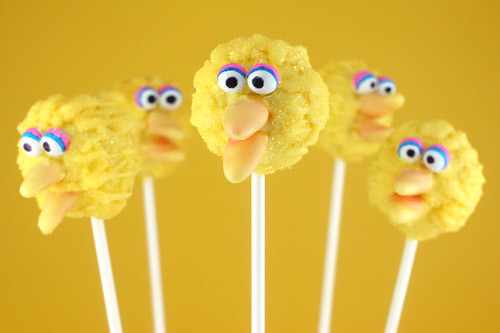 Big Bird Cake Pops