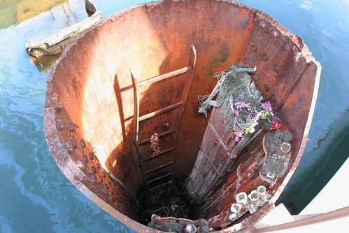 Images Of Pearl Harbor Day >> Ladder. Remains of the USS Arizona.   USS Arizona (BB-39) wa…   Flickr