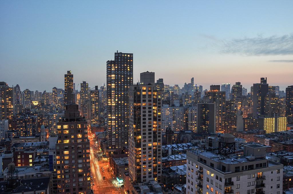 Manhattan Skyline From The Upper East Side Yorkville