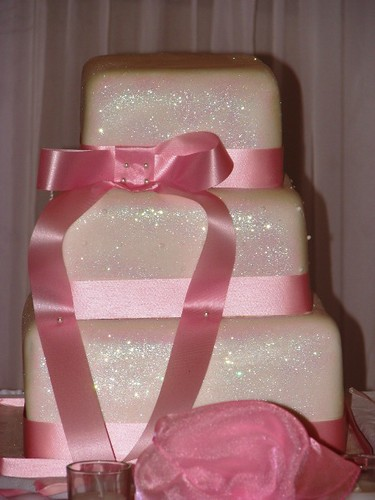 Pink Glitter Wedding Cake
