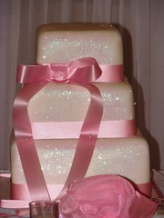Pink Glitter Wedding Cake | by Kim and Ashlee's Cakes & Cookies