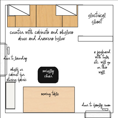 Sewing Room Floor Plan Copy Emily Flickr