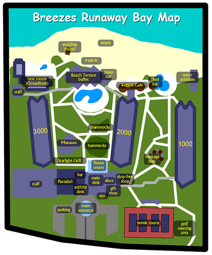 Breezes Runaway Bay Map Buildings Numbered This Map Of